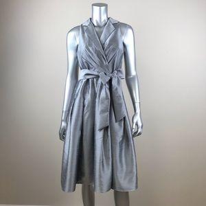 Jones wear silver dress sleeveless size 6